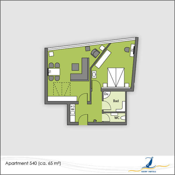 Aparthotel layout apartment 540