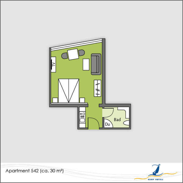 Aparthotel layout apartment 542