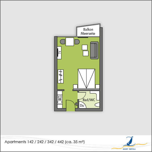 Aparthotel layout apartments 142 242 342 442