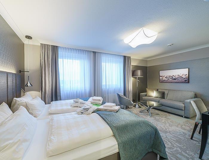 Doppelzimmer im Strandhotel Duhnen
